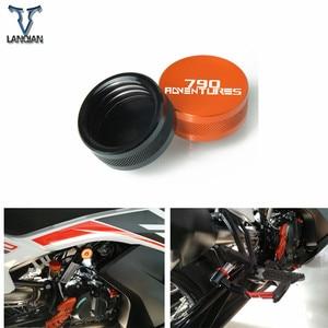 Image 1 - ل KTM 790 Adventure S 2019 790 Adventure 2019 ملحقات دراجة نارية الفرامل الخلفية أسطوانة رئيسية خزان غطاء غطاء حامي