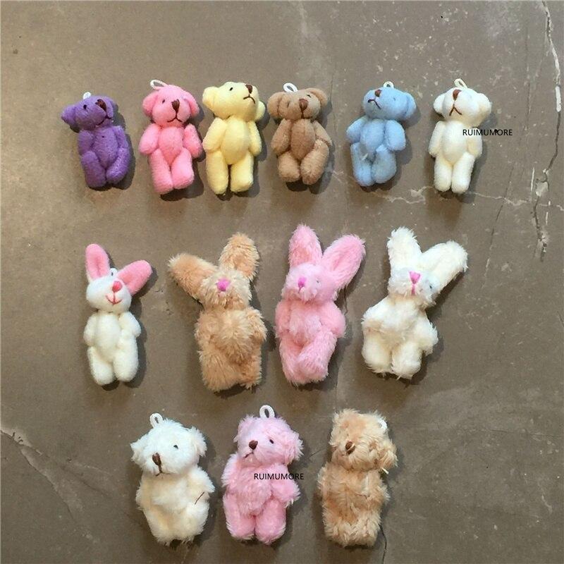 Много цветов, выбор-4-7 см плюшевый кролик мягкая кукла игрушка, детский маленький подарок медведь плюшевая игрушка
