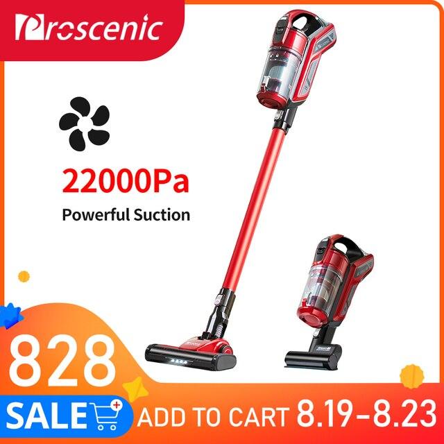Proscenic I9 22000Pa el akülü elektrikli süpürge siklon taşınabilir elektrikli süpürge için ev dikey kablosuz halı temizleyici