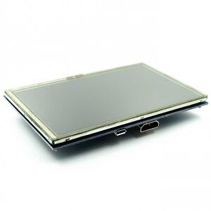 Image 2 - LCD מודול 5.0 אינץ Pi TFT 5 אינץ מגע Resistive מסך 5.0 אינץ LCD חומת מודול HDMI ממשק לפטל pi 3 +/B +/2B
