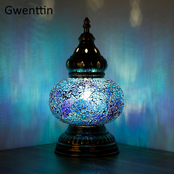 Turkish Table Lamps for Bedroom Love Sea Vintage Home Decor Gift LED Light Fixtures Luminaire Bedside Table Lanterns Night Light
