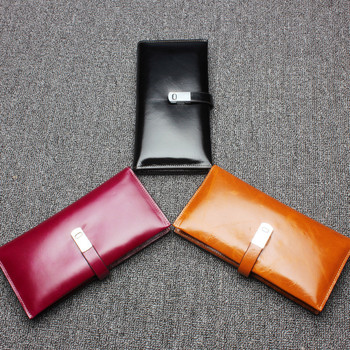 SONGFRIEND 2019 Women Genuine Leather RFID Blocking Functional Wallet Zipper Long Glint Card Holder Ladies Coin Purse Iphone1240