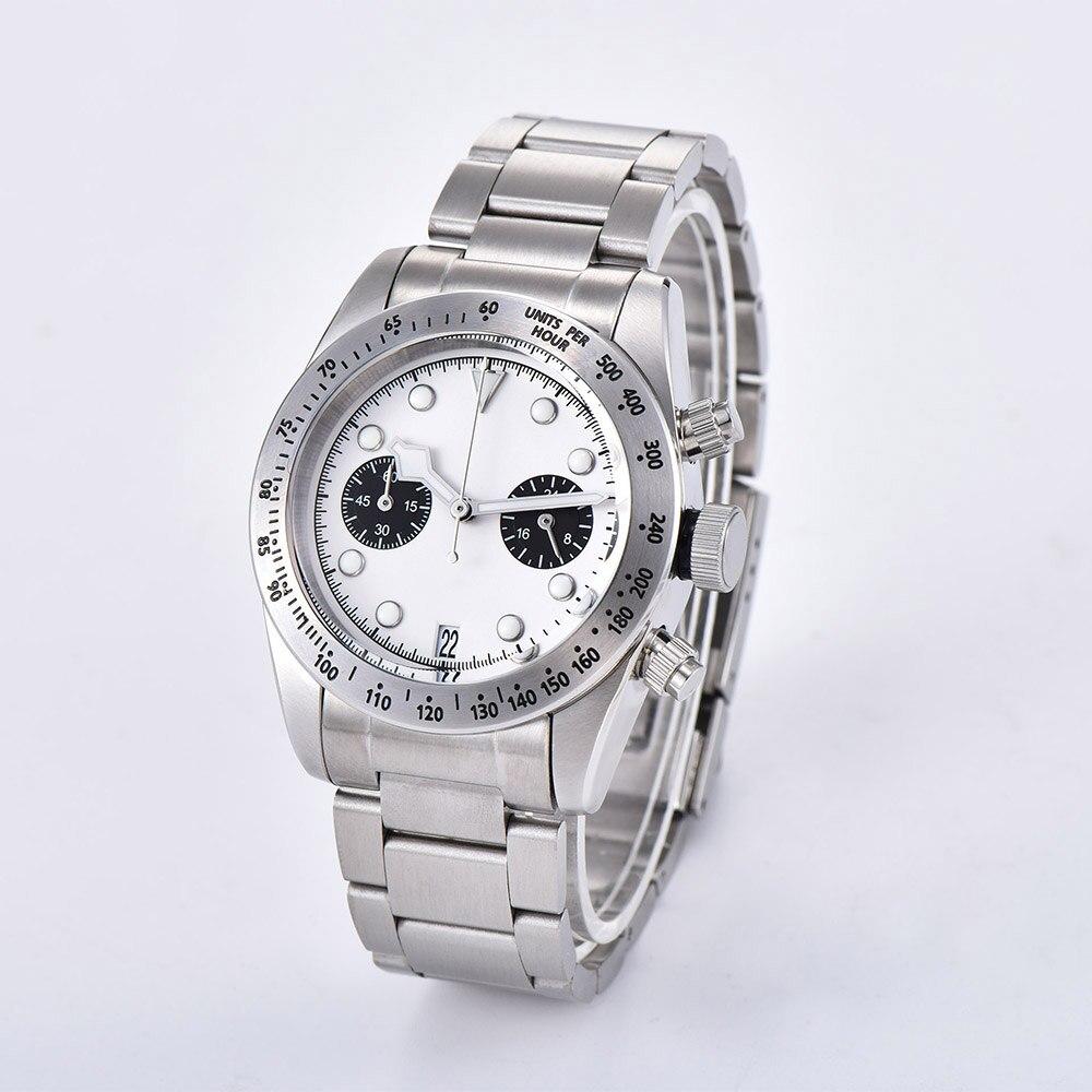 2019 новые мужские часы 41 мм Schwarz Bay 79350 хронограф кварцевые японские MIYOTA VK64 Move Мужские t 316L чехол из нержавеющей стали часы - 2