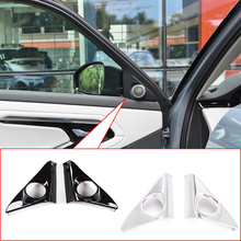 2 Pcs Car Door Audio Speaker Tweeters Cover Trim Sticker ABS Glossy Black For Land Rover Range Rover Evoque 2020 Auto Accessory abs chrome for land rover range rover evoque 2012 car door and window glass lifting switch cover trim car styling