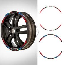 "Scooter 12"" Wheel Reflective Sticker Kit for Piaggio Vespa Sprint 50 150 150S 12 Inch Rim Decals"