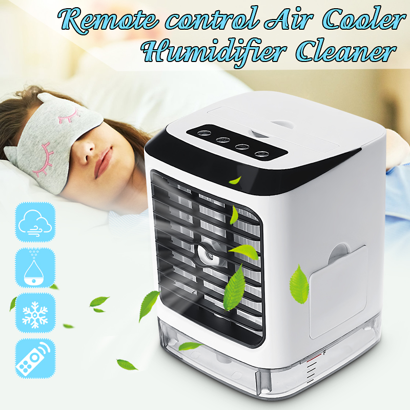 Desktop Air Cooler Portable Mini Fan evapolar humidifier Portable 3 Gear Speed Remote With remote control for Office Home|Fans| |  - title=
