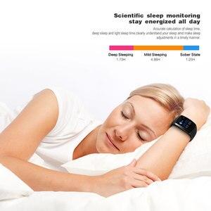 Image 5 - 2019 neue Q11 Super Lange Standby Smart Uhr Blutdruck Herz Rate Monitor Fitness Armband Uhr Männer Frauen Smartwatch PK q9