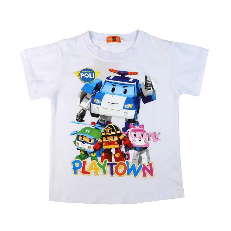 2019 CHILDREN'S Short-sleeved T-shirt Summer New Products BOY'S Pure Cotton Short-sleeved T-shirt Cartoon Pattern Transformation
