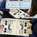 Mesa de trabalho batalha 2 em 1 jogo de hóquei no gelo engraçado clássico jogos de tabuleiro de batalha catapulta xadrez pára pai-criança jogo interativo
