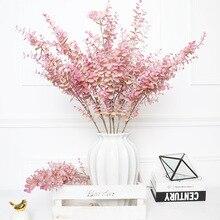 Hojas de eucalipto artificiales, rama de árbol de plástico, hojas tropicales falsas para decoración de boda, Fiesta en casa, 35cm y 80cm
