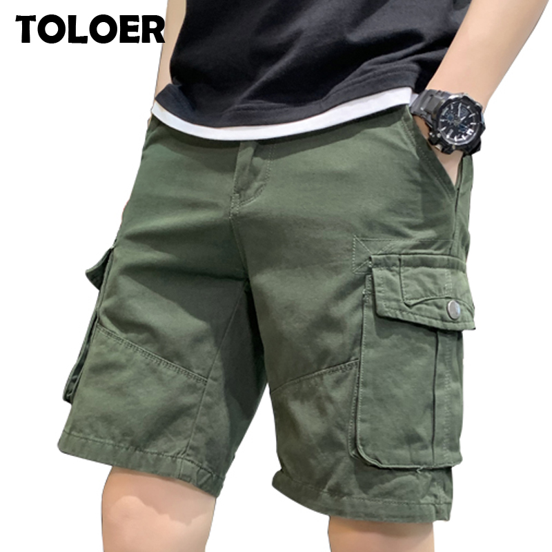 Cargo Shorts Men Summer Casual Pocket Shorts Masculino Men Joggers Overall Military Short Trousers Plus size 30-38 Sweatpants