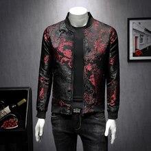 2020 Fall Paisely Floral Jacket Men Vintage Business Bomber Jacket Men Coat Windbreaker Clothes Men Vintage Jacket Coat 5XL