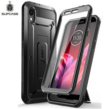 SUPCASE For Moto E6 Case (2019 Release) UB Pro Full-Body Rugged Holster Protective Back Cover with Built-in Screen Protector(China)