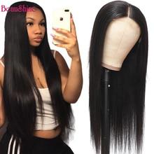 Lace-Wig Straight Glueless Pre-Plucked Brazilian 4x4