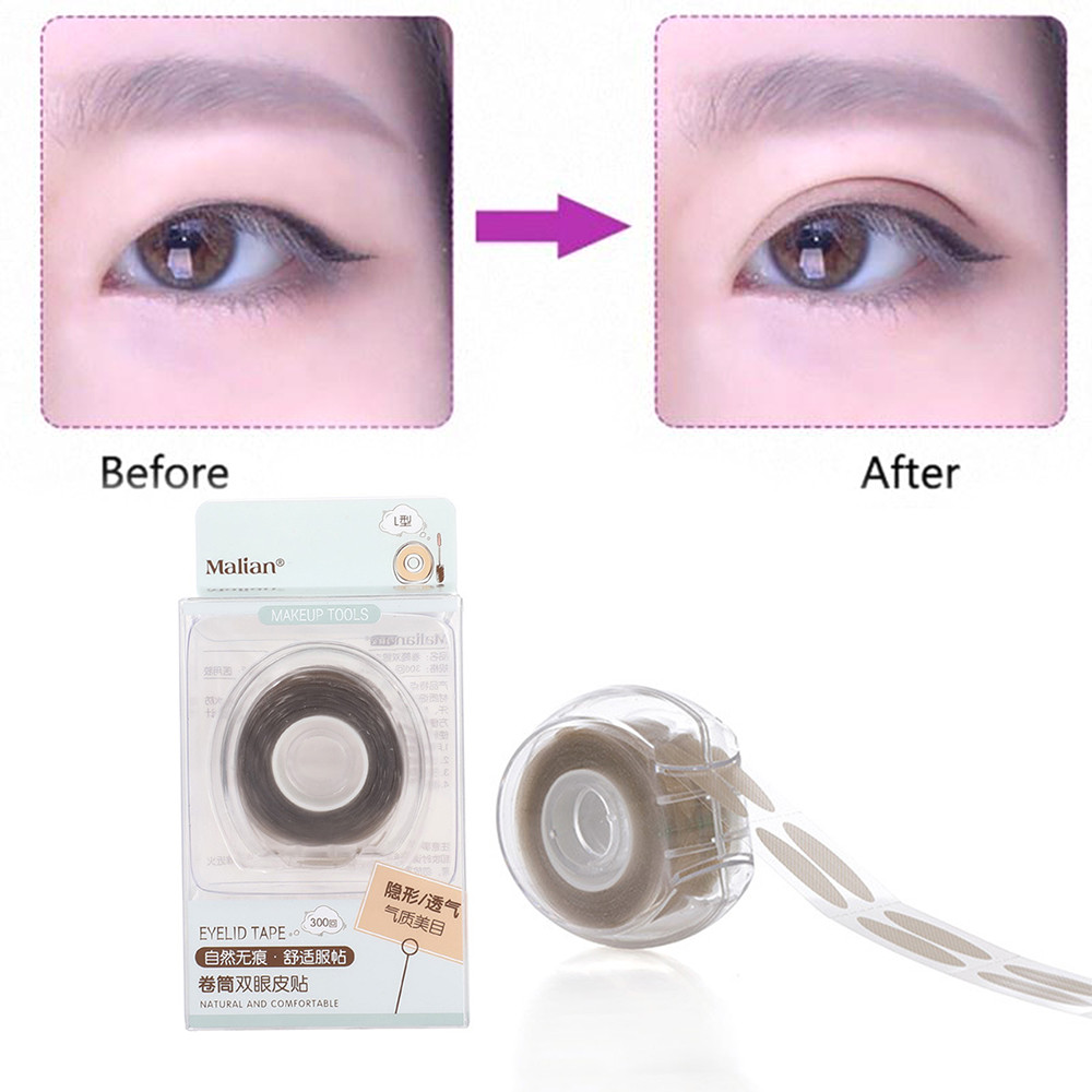 600 Pcs/box Big Eyes Make Up Eyelid Sticker S/L Double Fold Self Adhesive Eyelid Tape Stickers Makeup Clear Beige Color Stripe