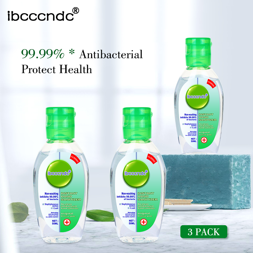 3X50ml Anti Bacterial Disposable Hand Sanitizer Hand Disinfection Gel Quick-Dry Handgel 75% Ethanol For Kids Adults Home Tarvel