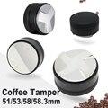 Регулируемый Темпер для кофе эспрессо из нержавеющей стали 58/58, 51/53/304/3 мм, выпуклый макарон, три угловых наклона, базовые распределительные ...
