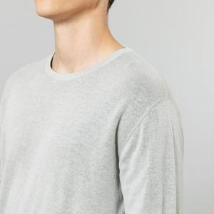 Image 2 - SIMWOOD 2019 autumn winter new minimalist sweater men causal basic 100% cotton pullover quality anti static clothes SI980583