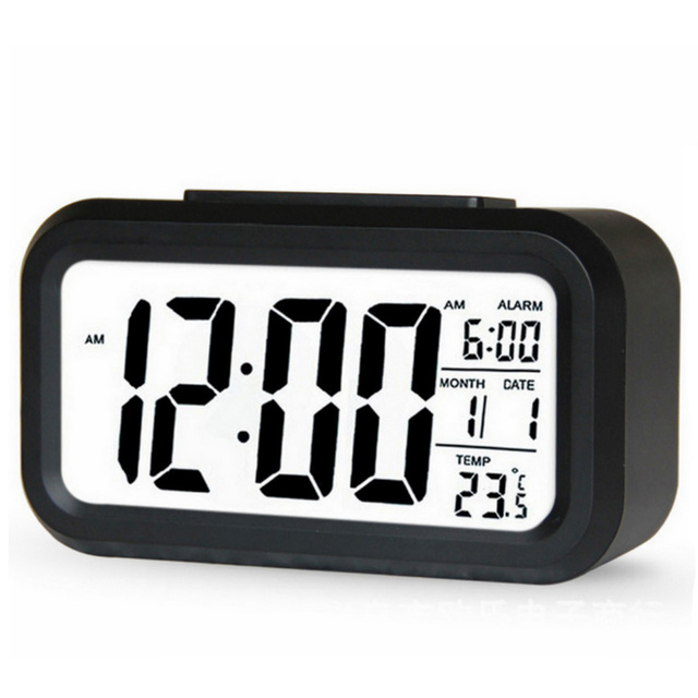 Hot sale LED Digital Alarm Clock Backlight Snooze Mute Calendar Desktop Electronic Bcaklight Table clocks Desktop clock 1