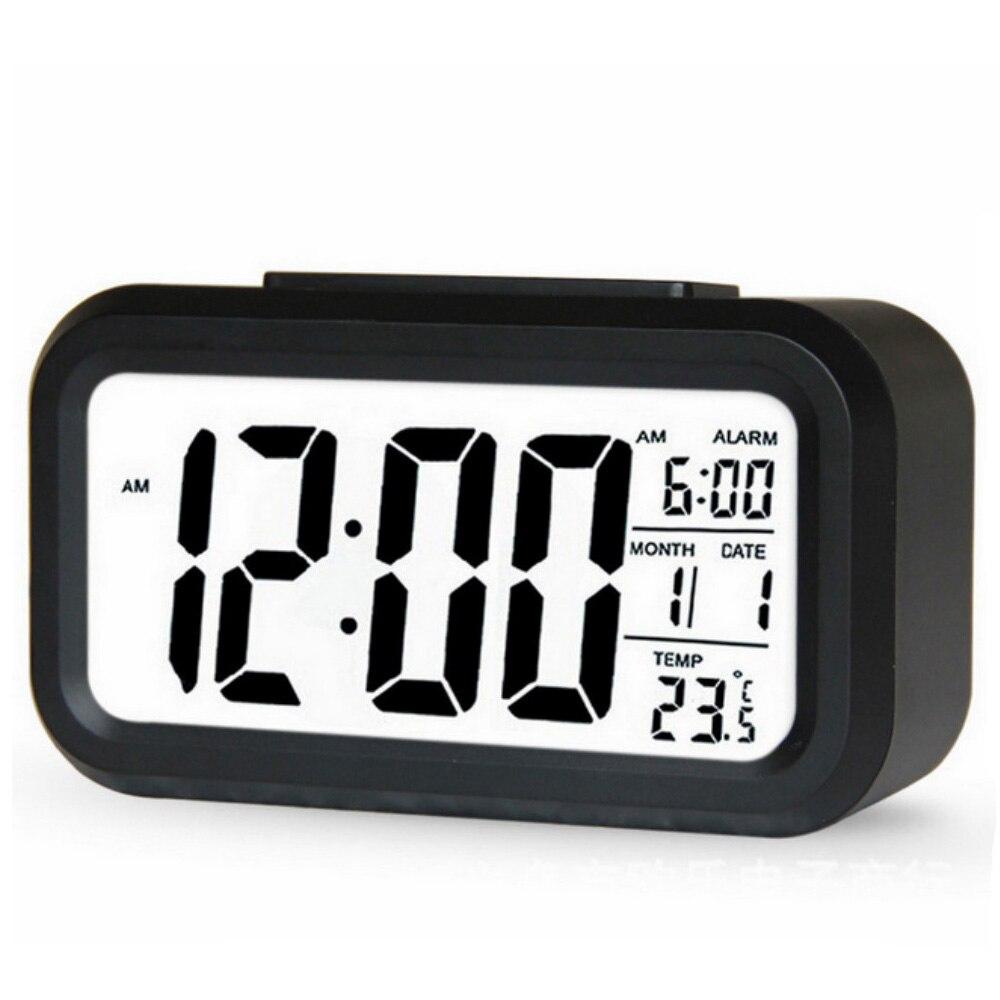 Réveil numérique rétro-éclairé LED, horloge de Table, calendrier muet, offre spéciale
