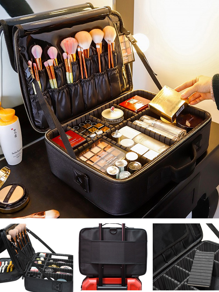 Makeup-Case Cosmetic-Bag Travel Professinal Large-Capacity Women Hot-Selling New-Upgrade