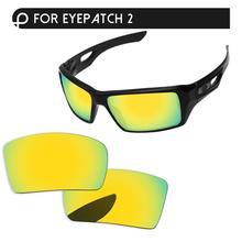 Papaviva 24K золотое зеркало поляризованные Сменные линзы для очков 1 и 2 солнцезащитные очки в оправе UVA и UVB Защита