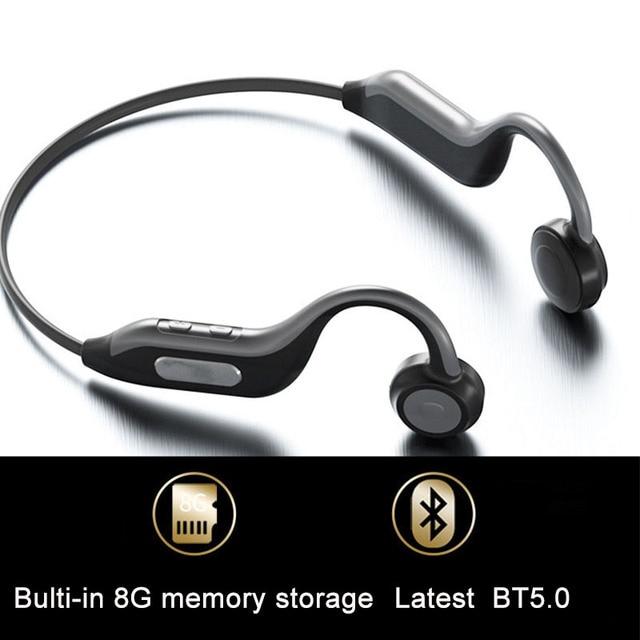 GGMM الأصلي بلوتوث 5.0 سماعات أحدث سماعة أذن تلتف حول الرأس المدمج في 8G بطاقة الذاكرة IPX67 HD هيئة التصنيع العسكري سماعات رياضية جديدة