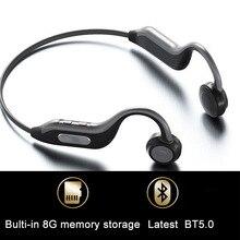GGMM oryginalne słuchawki Bluetooth 5.0 najnowsze zestaw słuchawkowy do przewodzenia kostnego wbudowana karta pamięci 8G IPX67 mikrofon HD słuchawki sportowe nowość
