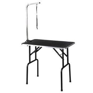 M8 zwierzęta stalowe zawieszenie Grooming wspornik z procy regulowany metalowy stół podparcie ramion pies kot uchwyt biurko produkty dla zwierzaka domowego