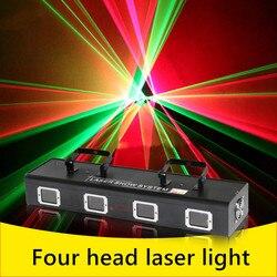 Paleta de líneas de haz de luz, láser rojo, verde, azul, rosa, Disco láser, barra de 4 lentes para DJ, Disco láser, buen uso para fiesta en casa, KTV, CLub nocturno, Bar