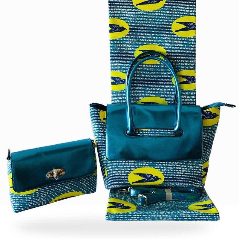Capputine 2019 African Tradition Ankara Bag And Cotton Fabric Set Fashionable Handmade Handbag With Pretty Wax Fabric For Sewing