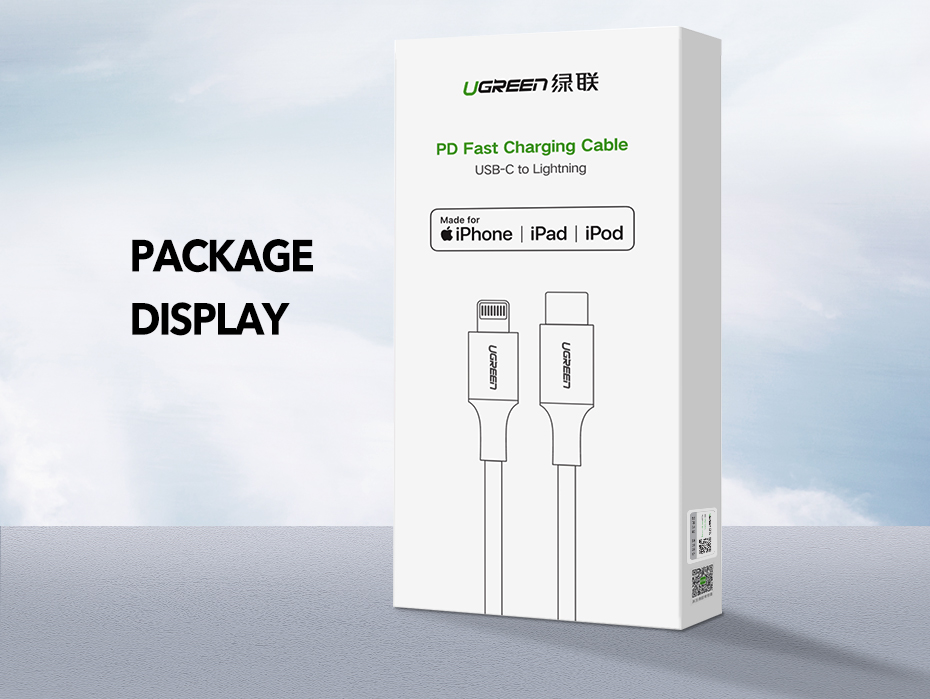 UGREEN USB C to Lightning Cable for iPhone 11 /iPone 11Pro /XS Max X 8 PD 36W Fast Charging Data Cable for MacBook iPad Pro Wire