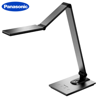 Panasonic Modern Metal Brushed Aluminum Saving Folding Touch LED Desk Lamp Office Study Reading Working Table Night Light