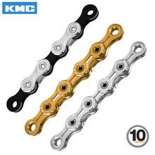 KMC 10 Speed Bicycle Chain X10 X10EL X10SL MTB Road Bike X Bridge Trekking Commuting Cycle W/ Original MissingLinks Connectors