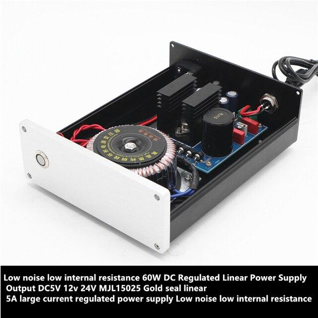 60w liniowy zasilacz regulowany wyjście DC 5v 19v 12v 24v Mjl15025 złota pieczęć liniowe 5A prąd o dużym napięciu zasilacz regulowany