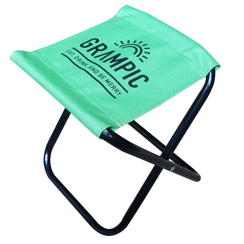 Yang Guang Casual Camp Chair Square Stool Steel Tube Oxford Cloth Folding Stool With Sound Portable Train Fishing Stool Customiz