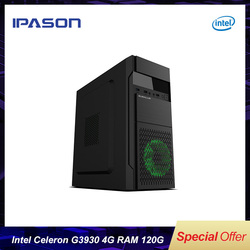Best Price IPASON G3930 Dual-Core DDR4/DDR3 4GB Supply Gaming Computer Desktop 120G SSD barebone system MINI PC without GPU
