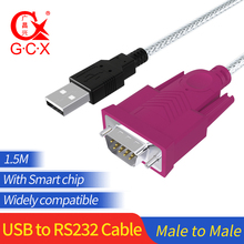 USB RS232 seri kablo yonga seti erkek 9Pin COM USB DB9 dönüştürücü adaptörü Windows 7 için 8 10 XP Mac OS X yazıcı LED
