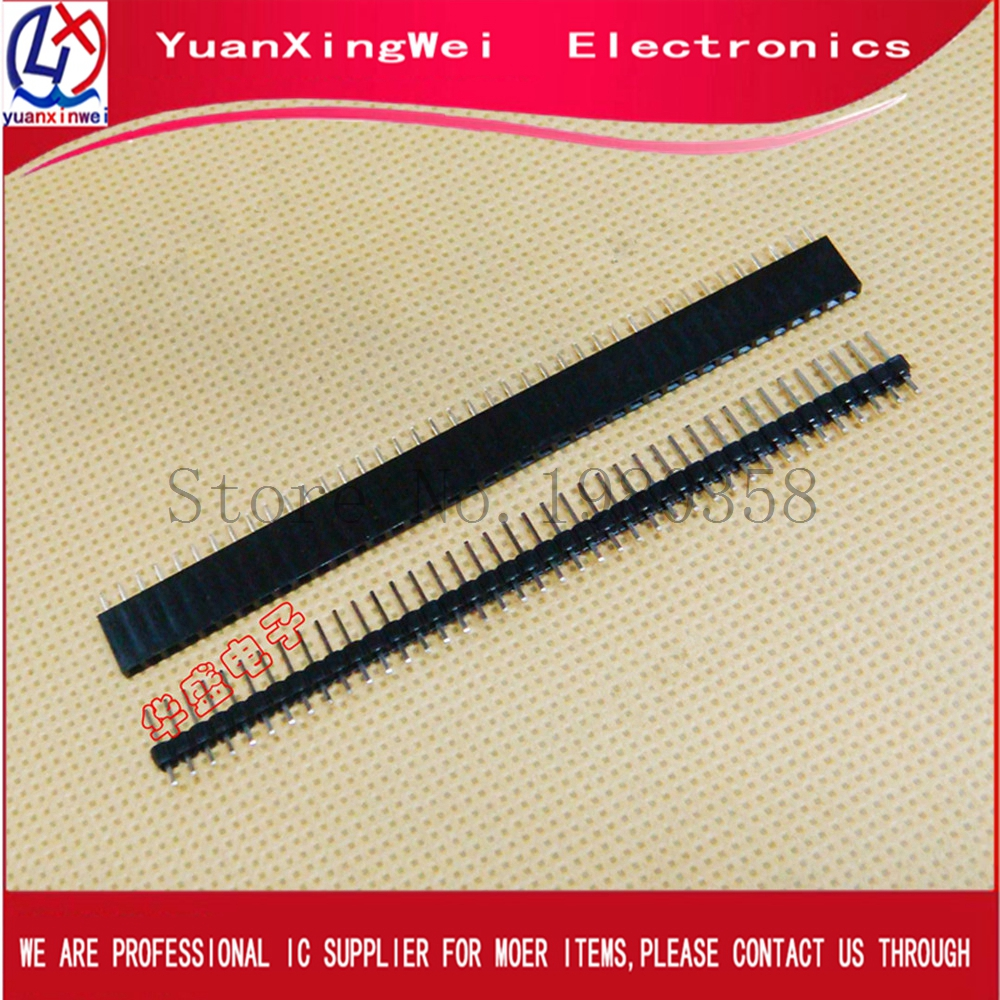 Lot 20X 6 Pin 2.54mm 90° Single Row Male Pin Header Strip For Arduino Prototype
