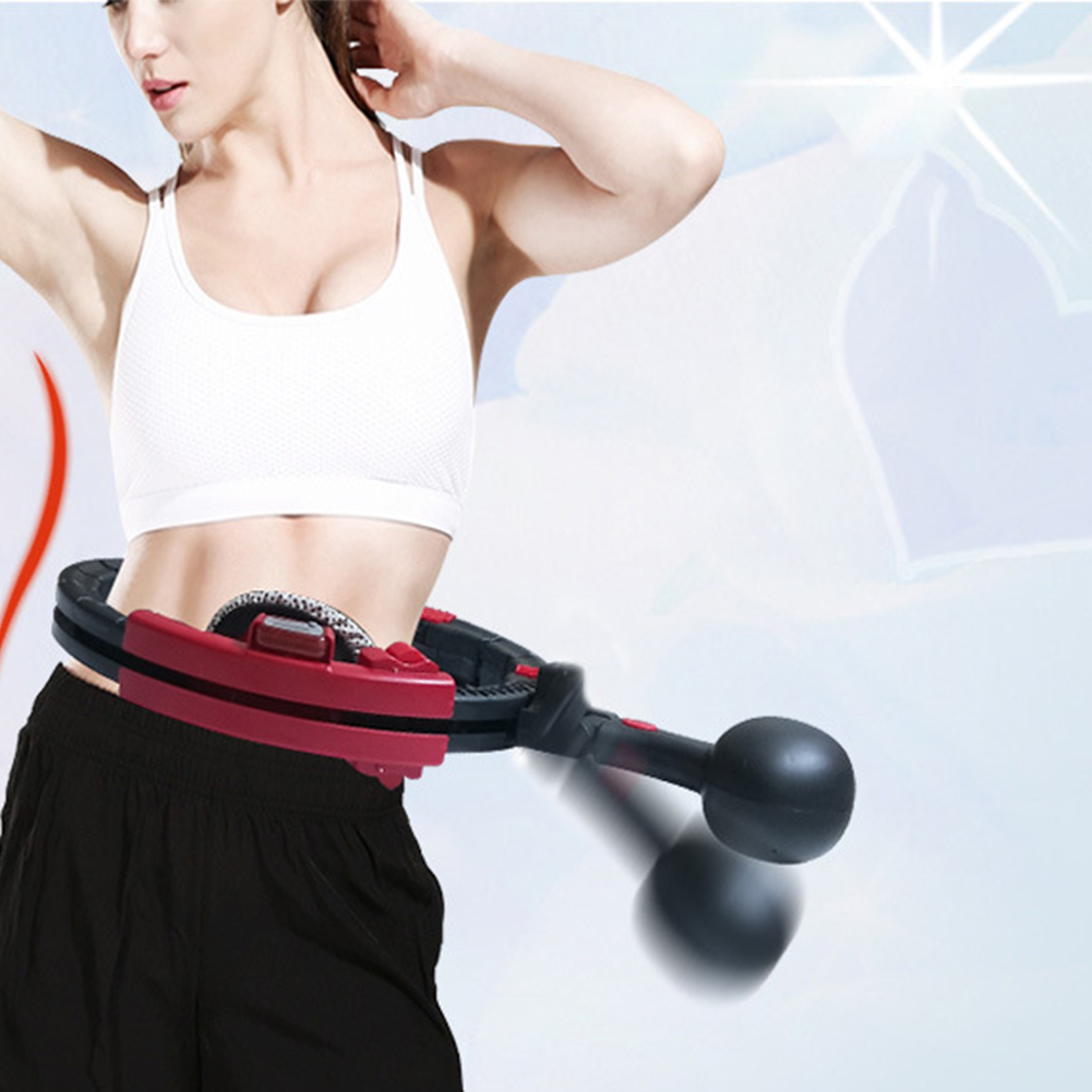 Sport Hoop Detachable Fitness Exercise Weight Loss Automatic Counting Tightening Adjustable Burning Fat ABS Health Care Magnetic