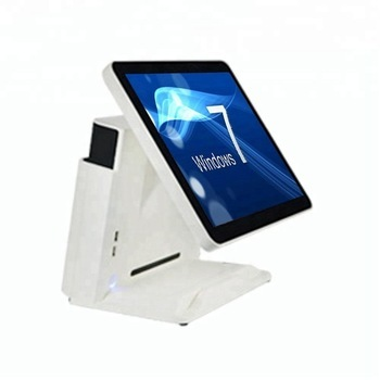High sales J1900 mainboard POS System for supermarket Point of Sales fanless desktop 15'' capacitive touch screen Cashier