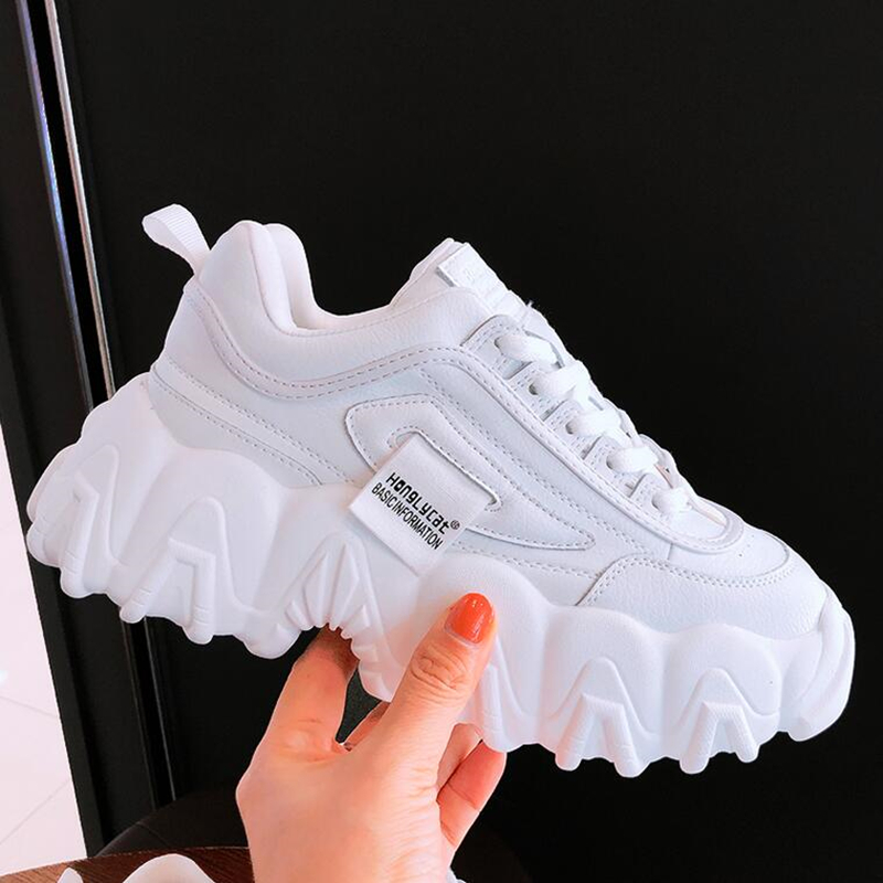 NEW Brand Women Shoes Casual Tenis Chunky Sneakers Basket Sapato Feminino Ladies Sport Shoes Increase Casual Shoes Woman Sneaker