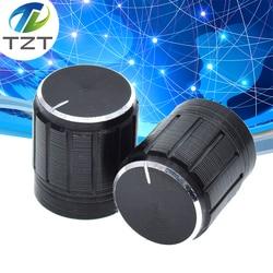 Perilla de potenciómetro de aleación de aluminio de 5 uds., potenciómetro doble antideslizante, Trompeta especial de 15x17mm, perilla de 15x17