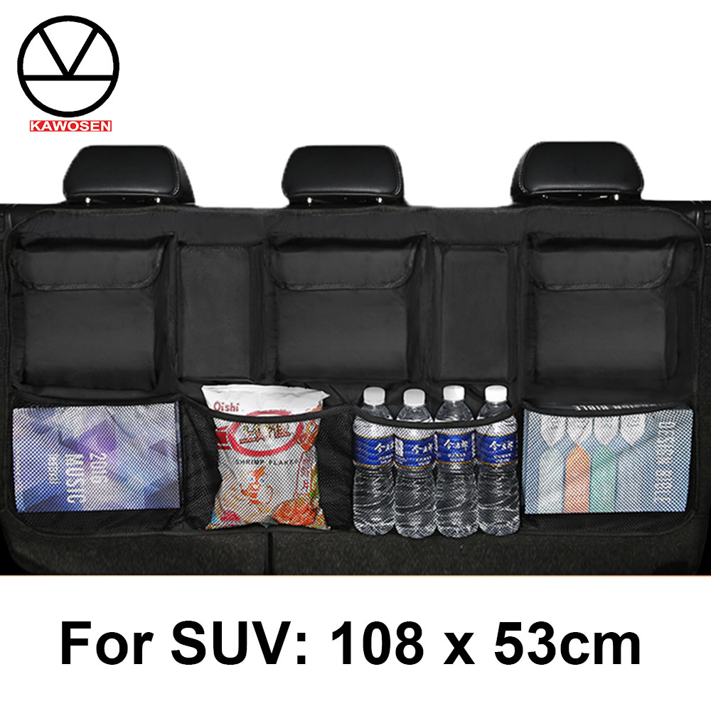 KAWOSEN  Big Size Car Trunk Bag for SUV MPV Universal Back Seat Organizer Car Seat Organizer  Accessories Seat Back Bag CTOB05