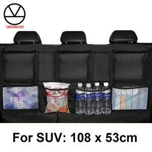 Image 1 - KAWOSEN borsa per bagagliaio per auto di grandi dimensioni per SUV MPV Organizer per sedile posteriore universale accessori per Organizer per seggiolino auto borsa per sedile posteriore CTOB05