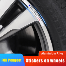 4x Car Rims Wheels Curved Decals Stickers Car Goods For Peugeot GT 207 307 407 507 508 408 308 206 406 5008 3008