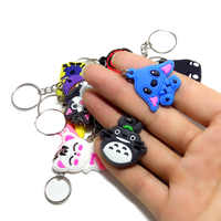 50 PCS/100 PCS/200 PCS/500 PCS Mix PVC Cartoon Schlüssel Kette Schlüssel Ring Kinder Anime abbildung Keychain Schlüssel Halter Kid Spielzeug Anhänger