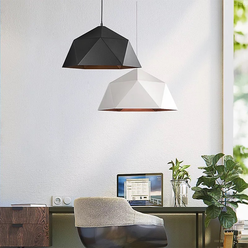 Modern Led Pendant Lights Fixture With Iron Lampshade For Diningroom Cafe Bar Restaurant Nordic Hanging Lamp Luminaire WF1017