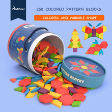 Mideer 250 шт деревянные блоки Монтессори геометрические познания