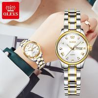 OLEVS Neue Mode Frauen Quarzuhr Wasserdicht Klassische Luxus Marke Dame Uhr Edelstahl Band Uhren